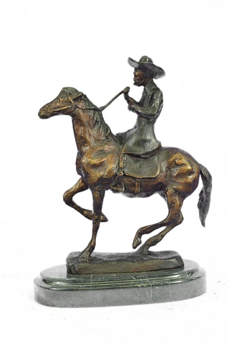 Horse and Cowboy Bronze Sculpture
