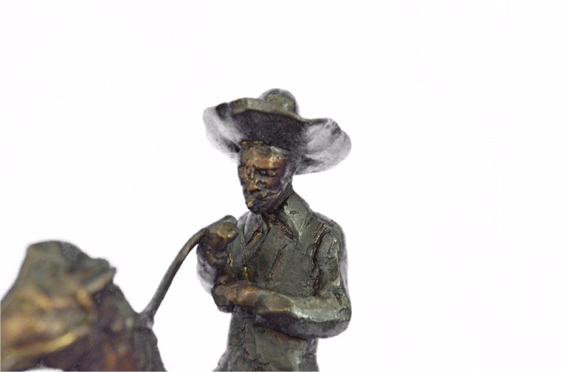 Horse and Cowboy Bronze Sculpture - 2