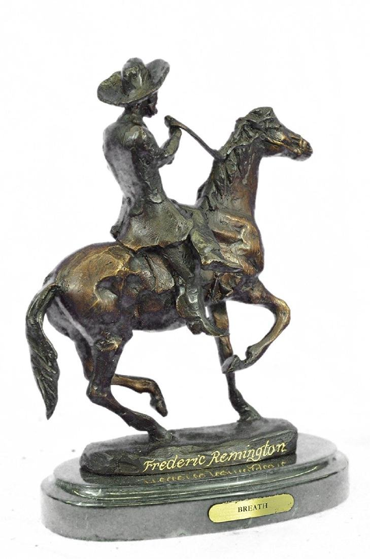 Horse and Cowboy Bronze Sculpture - 6