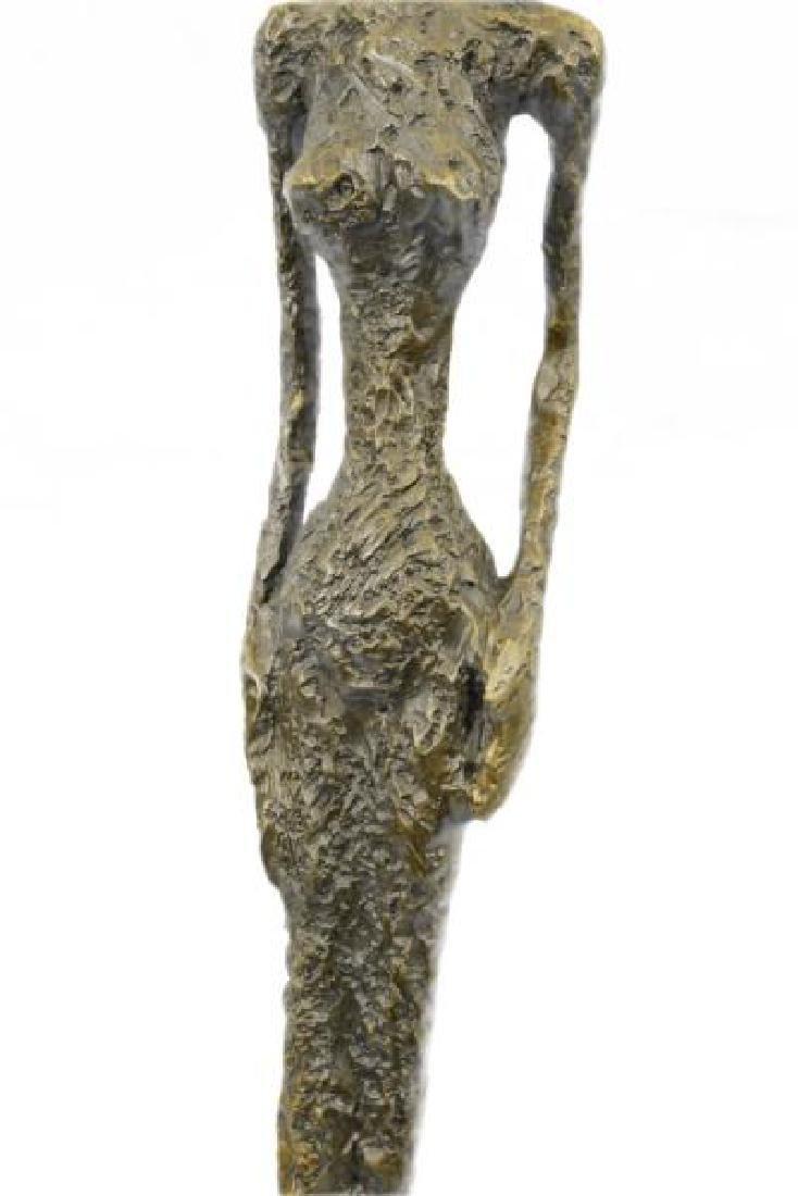 Abstract Modern Female Bronze Sculpture - 8