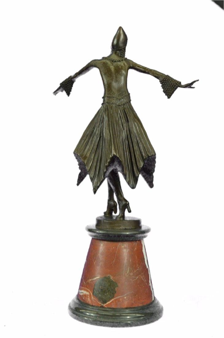 Dancer Bronze Sculpture on Marble Base Statue - 6