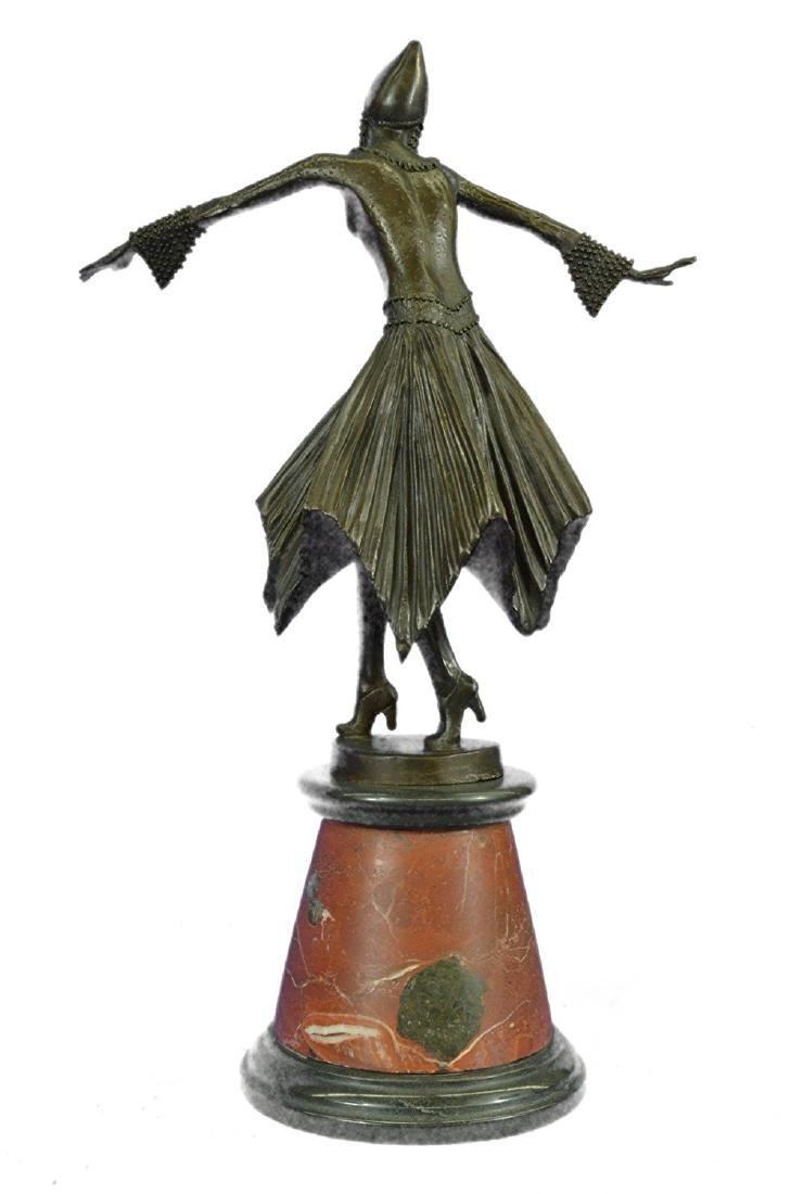 Dancer Bronze Sculpture on Marble Base Statue - 7