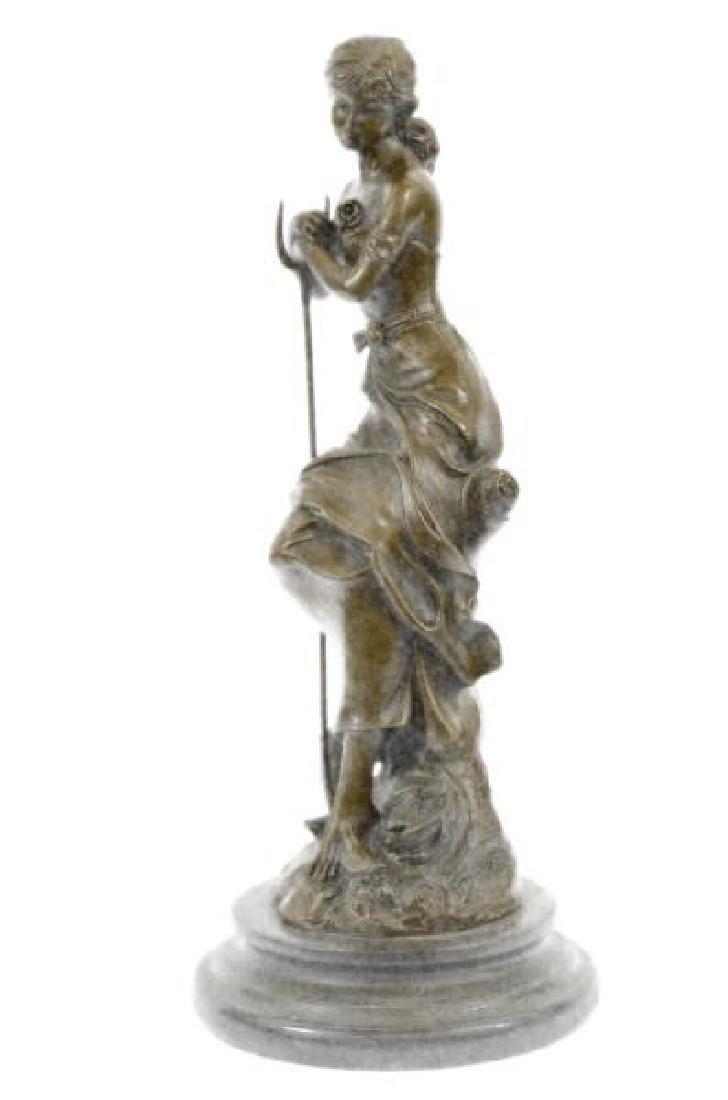 Dreaming Elegant Classic Woman Bronze Statue