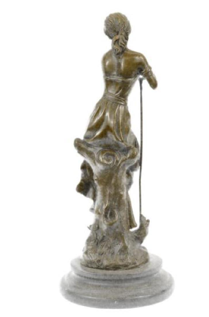 Dreaming Elegant Classic Woman Bronze Statue - 3