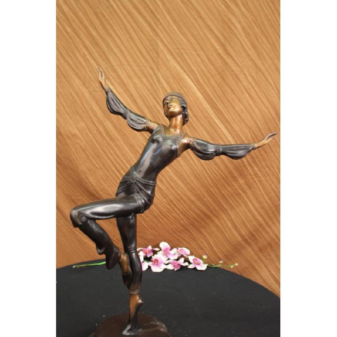 Egyptian Dancer Bronze Sculpture