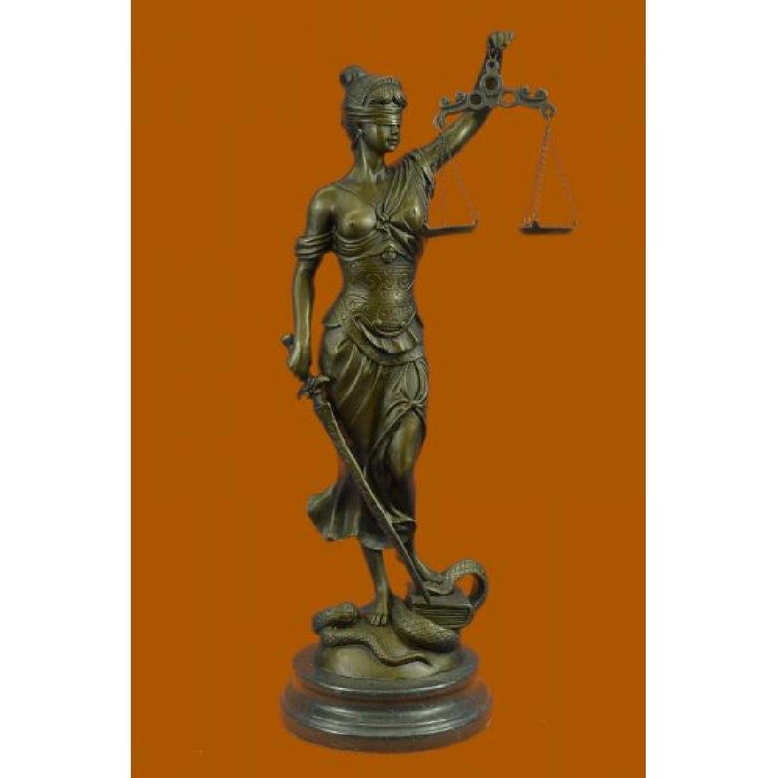 Blind Justice Graduation Lawyer Student Bronze