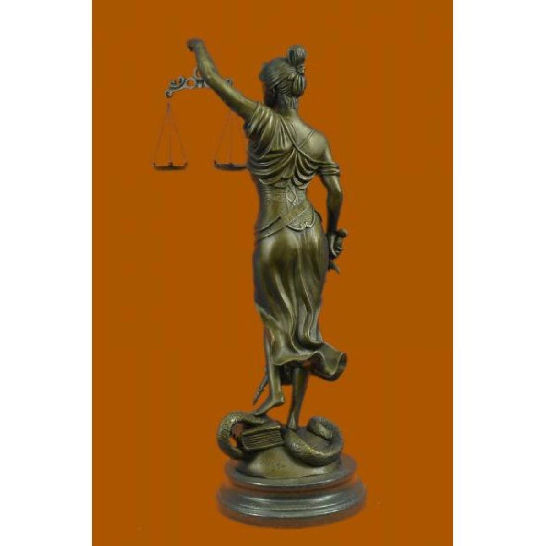 Blind Justice Graduation Lawyer Student Bronze - 3