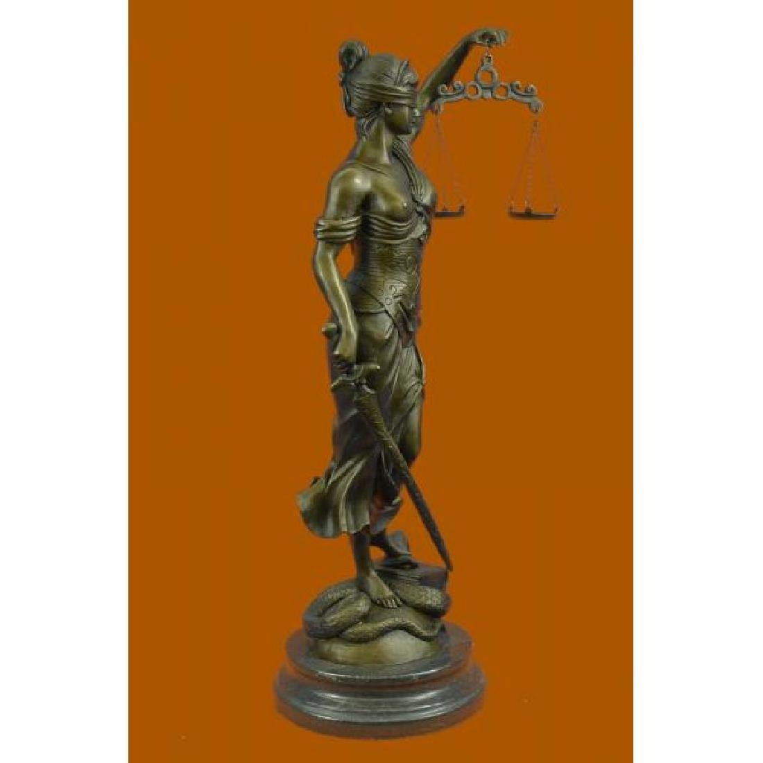 Blind Justice Graduation Lawyer Student Bronze - 4