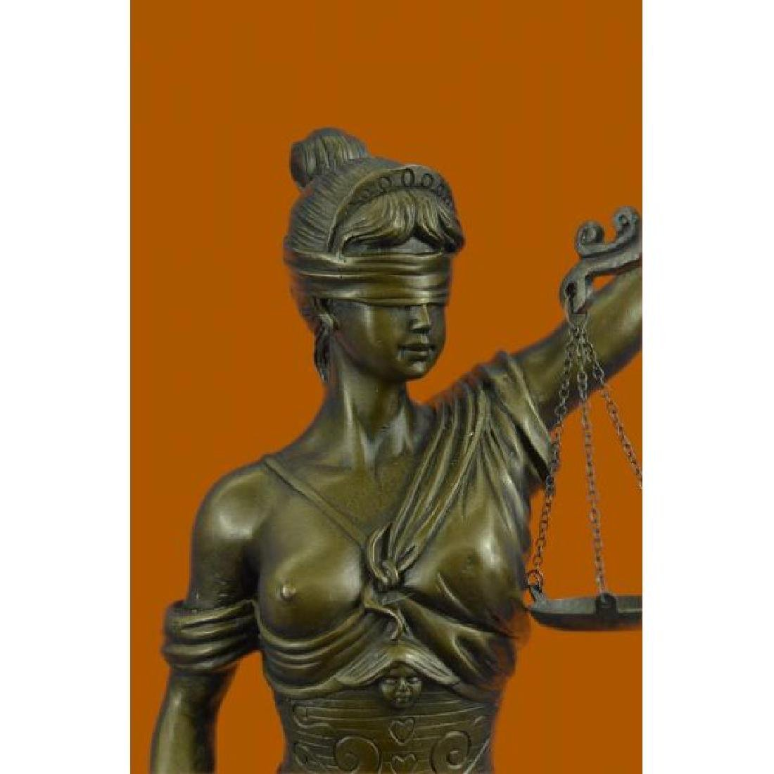 Blind Justice Graduation Lawyer Student Bronze - 5
