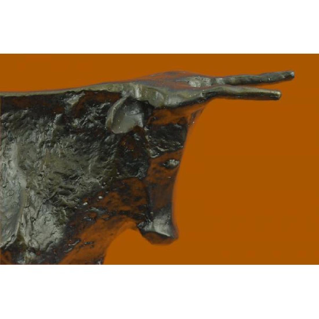 Modern Bull Bronze Sculpture Hot Cast Figurine - 5