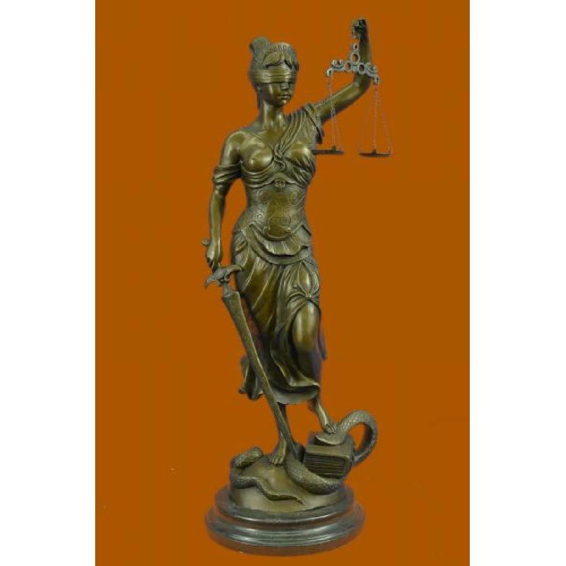 Tall Blind Justice Graduation Lawyer Student Bronze