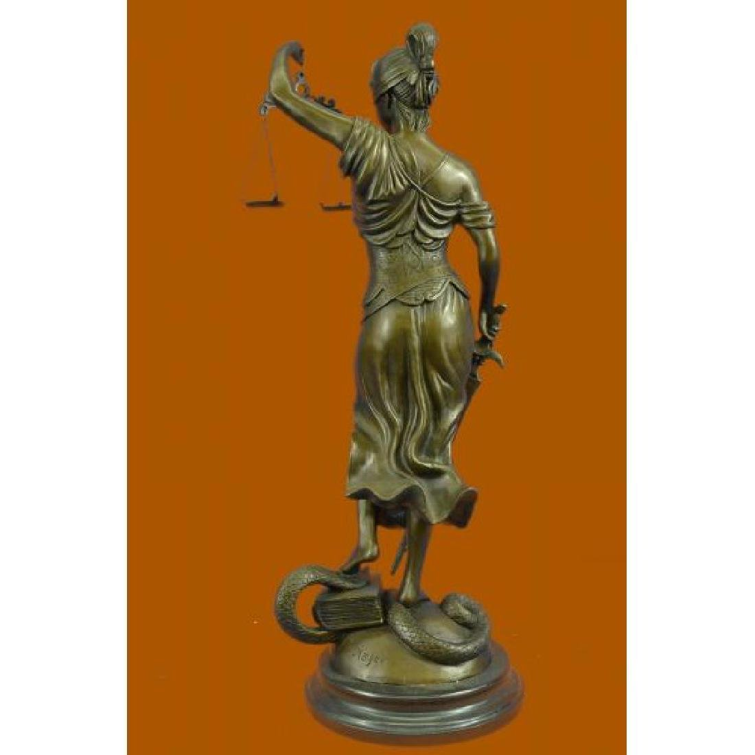 Tall Blind Justice Graduation Lawyer Student Bronze - 3