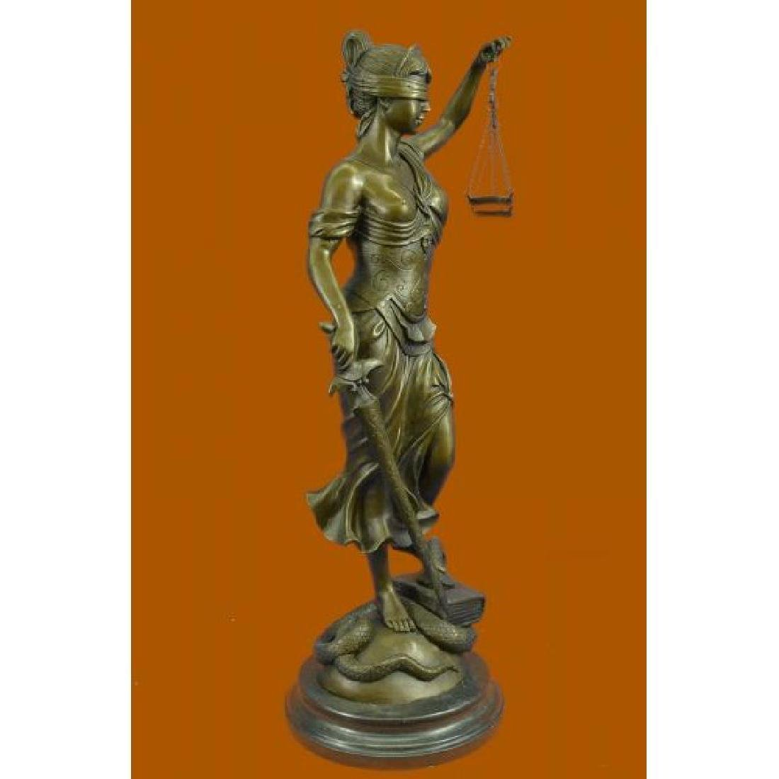 Tall Blind Justice Graduation Lawyer Student Bronze - 4
