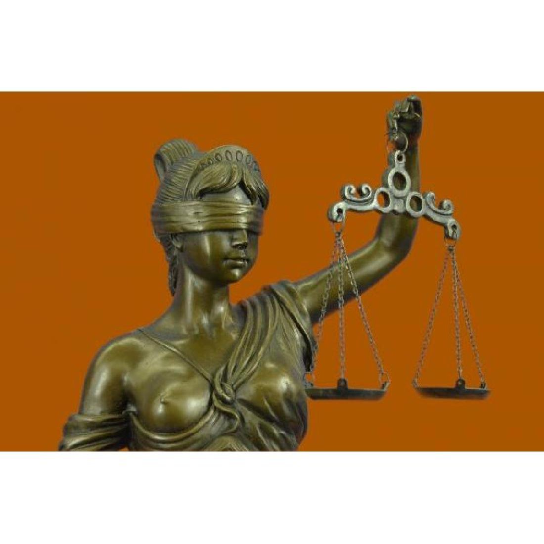 Tall Blind Justice Graduation Lawyer Student Bronze - 5