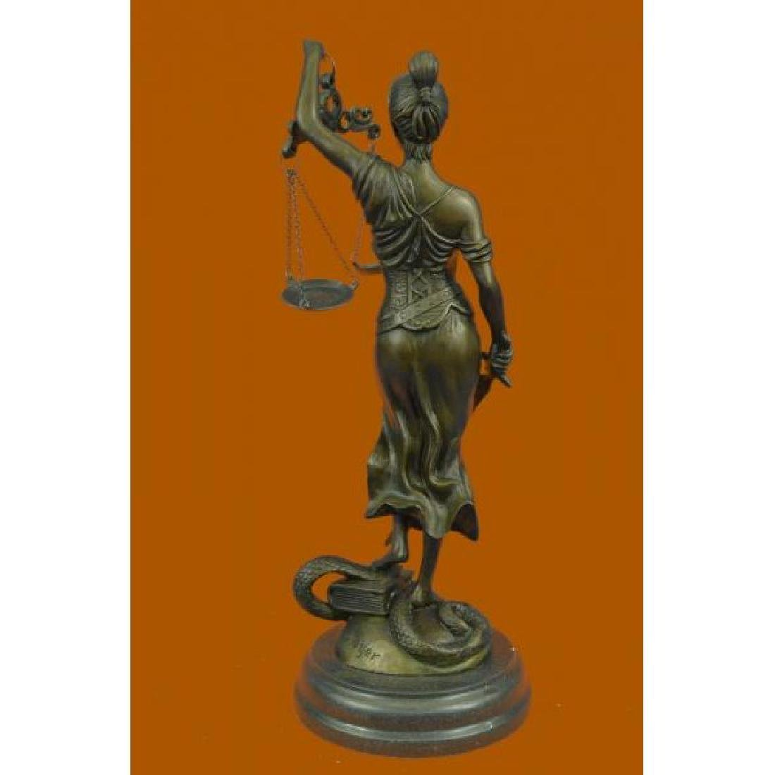 Lady Blind Justice Bronze Statue - 3
