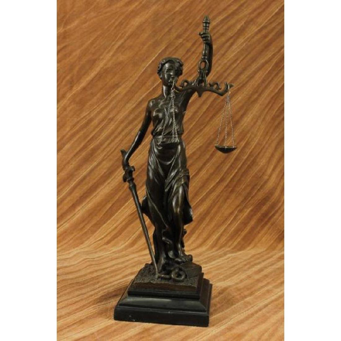 Blind Justice - Scale of Justice Bronze Sculpture