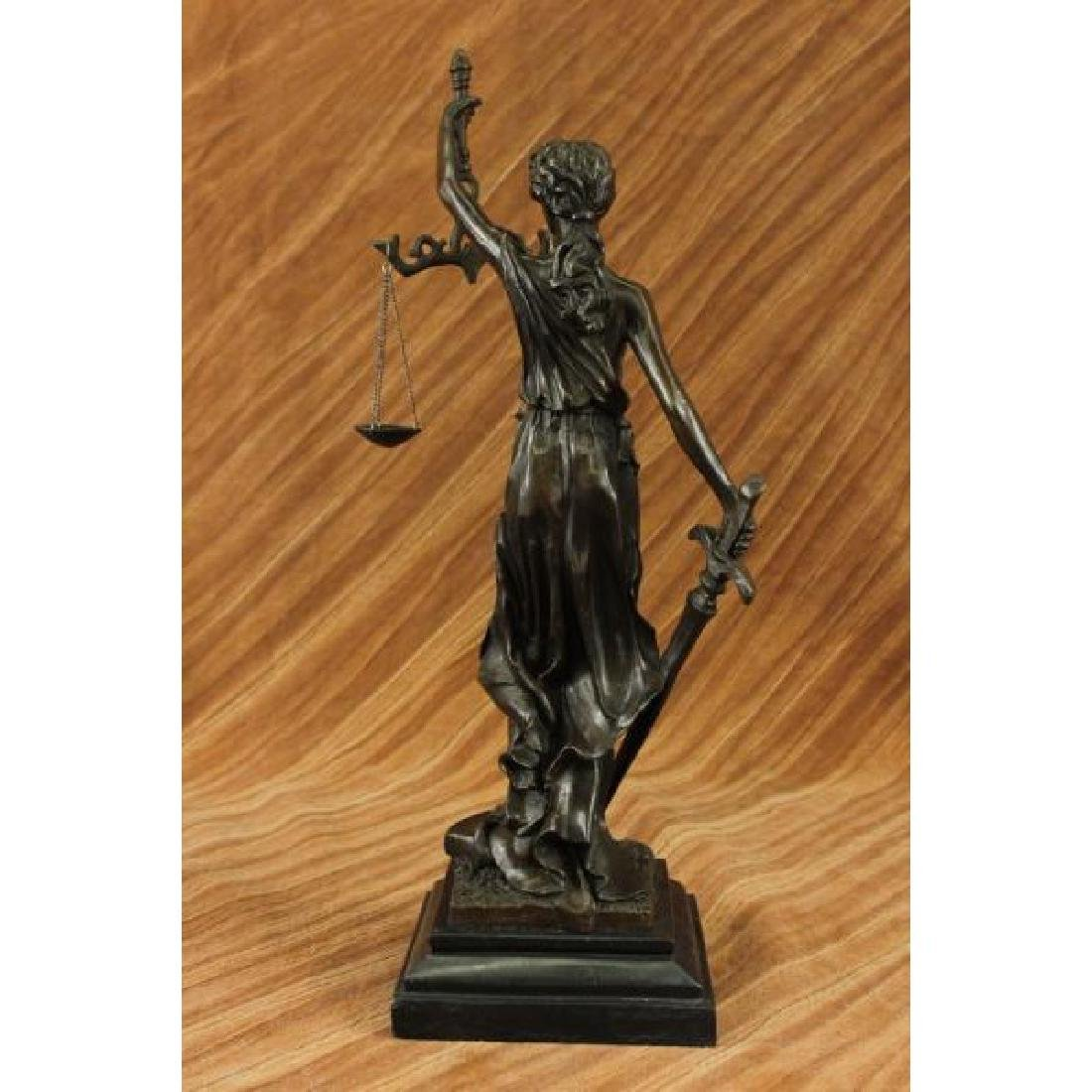 Blind Justice - Scale of Justice Bronze Sculpture - 3