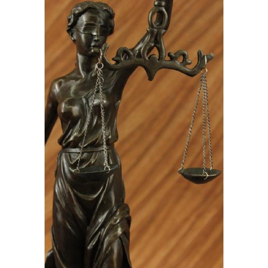Blind Justice - Scale of Justice Bronze Sculpture - 5