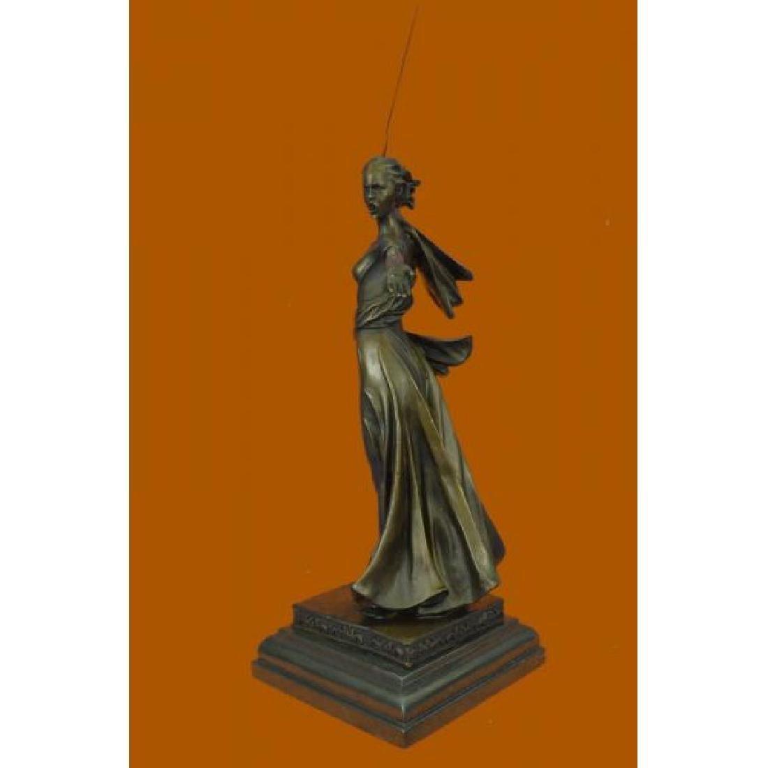 Greek Mythology Athena Female Warrior with Sword Bronze - 2