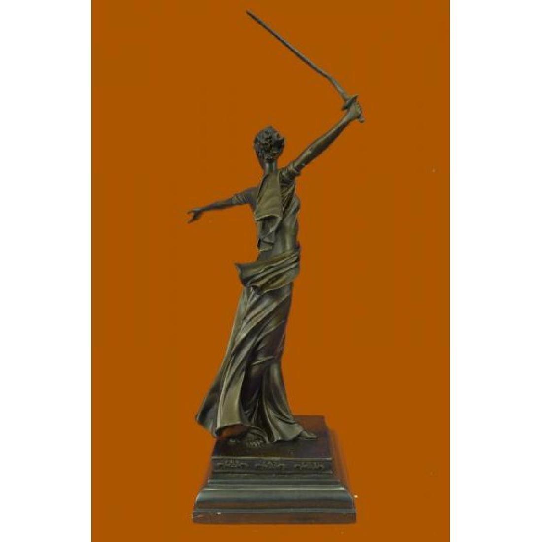 Greek Mythology Athena Female Warrior with Sword Bronze - 3