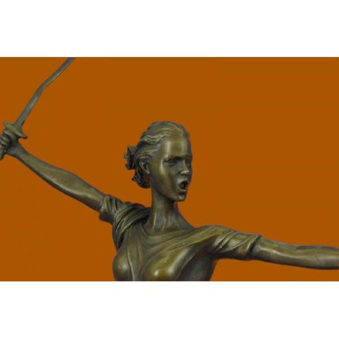 Greek Mythology Athena Female Warrior with Sword Bronze - 5