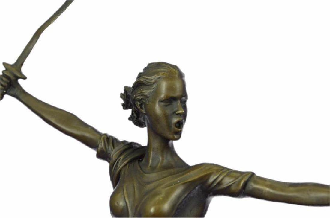 Greek Mythology Athena Female Warrior with Sword Bronze - 6
