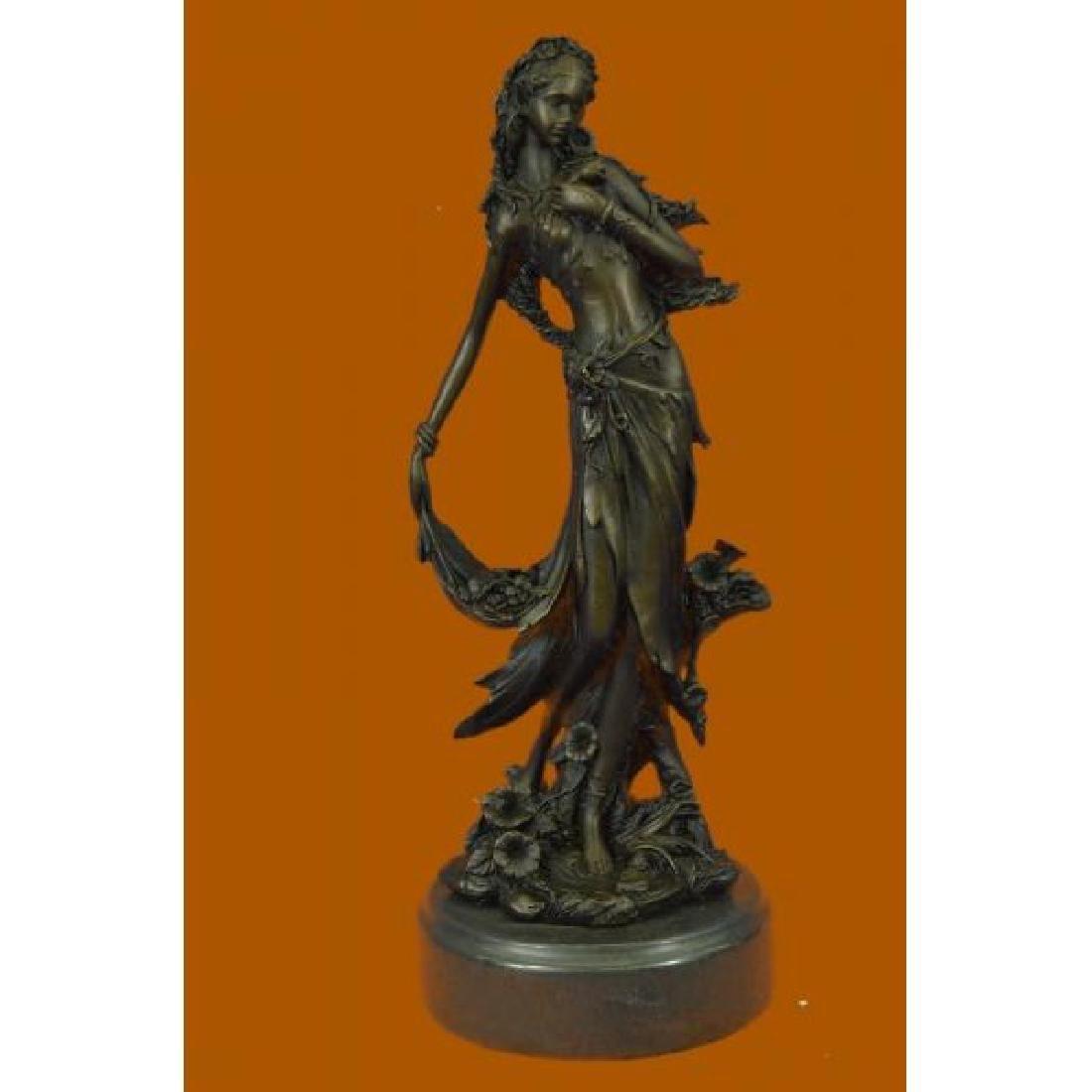 Sexy Nymph Goddess Bronze Sculpture