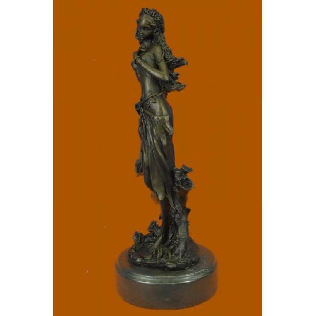 Sexy Nymph Goddess Bronze Sculpture - 2