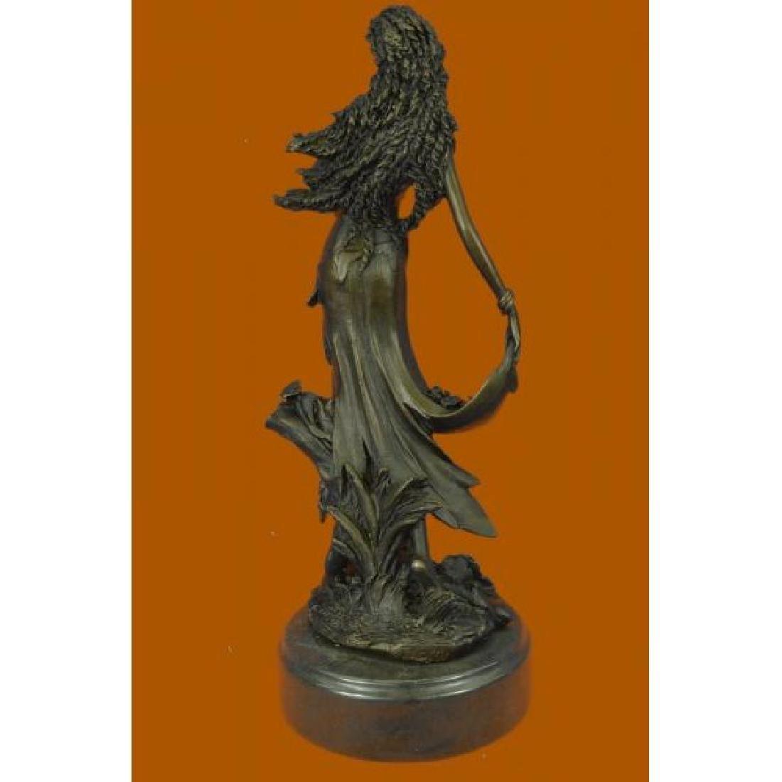 Sexy Nymph Goddess Bronze Sculpture - 3