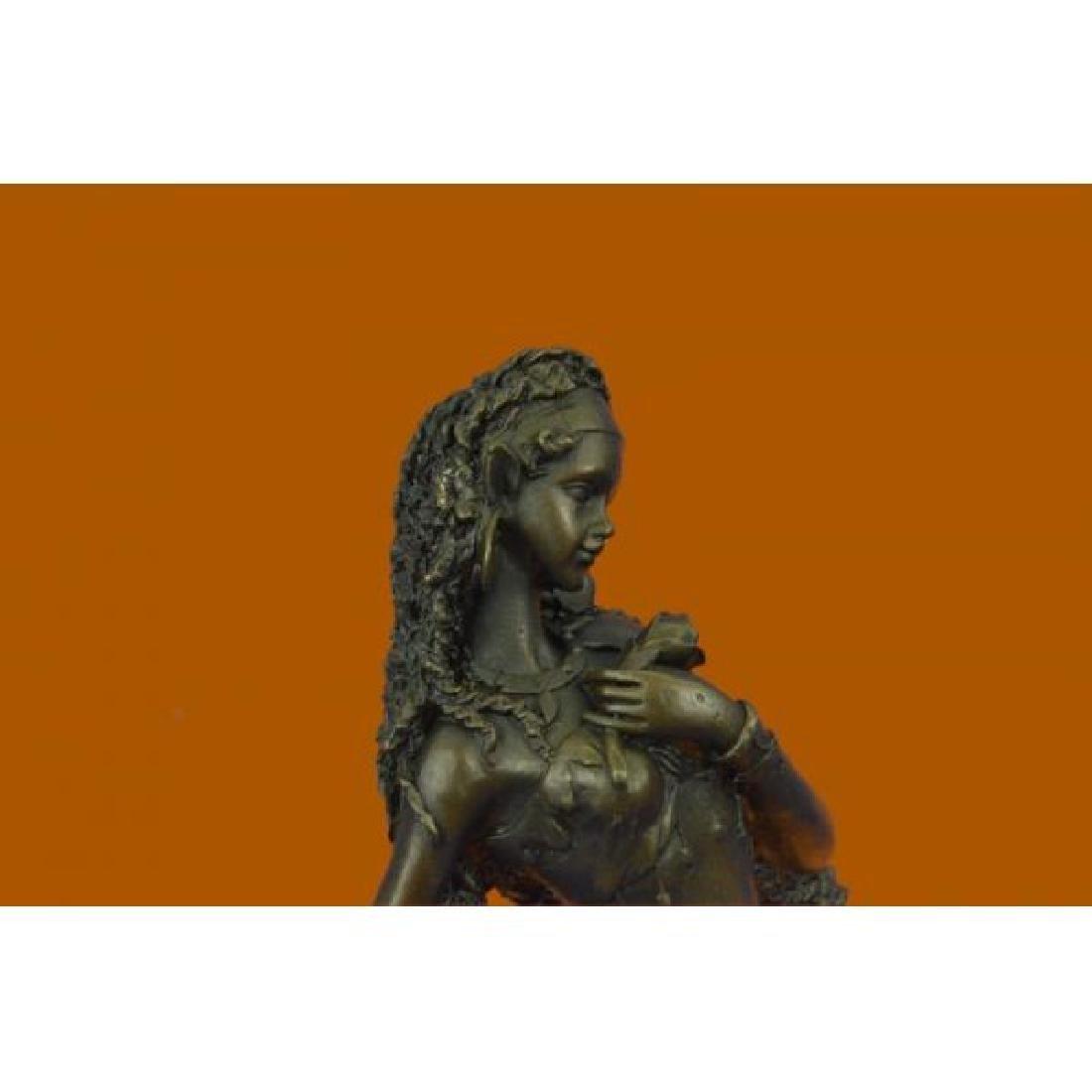 Sexy Nymph Goddess Bronze Sculpture - 5