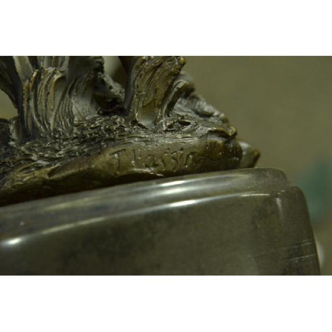 Sexy Nymph Goddess Bronze Sculpture - 6