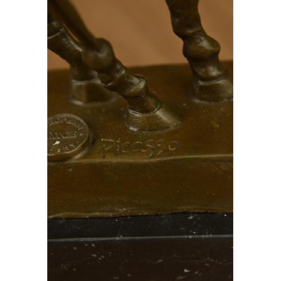 Modern Horse Bronze Sculpture on Marble Base Figurine - 6