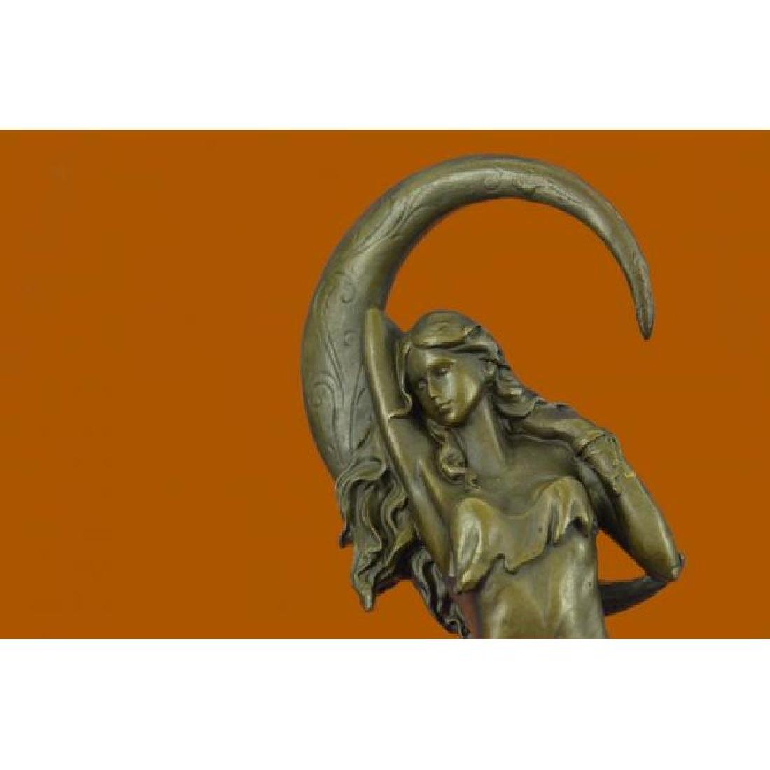 Venus Under the Moon Bronze Statue - 5