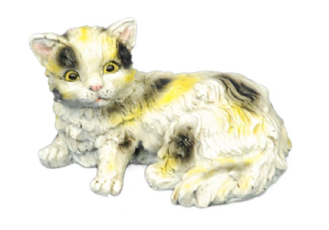 Cute Persian Cat Bronze Sculpture