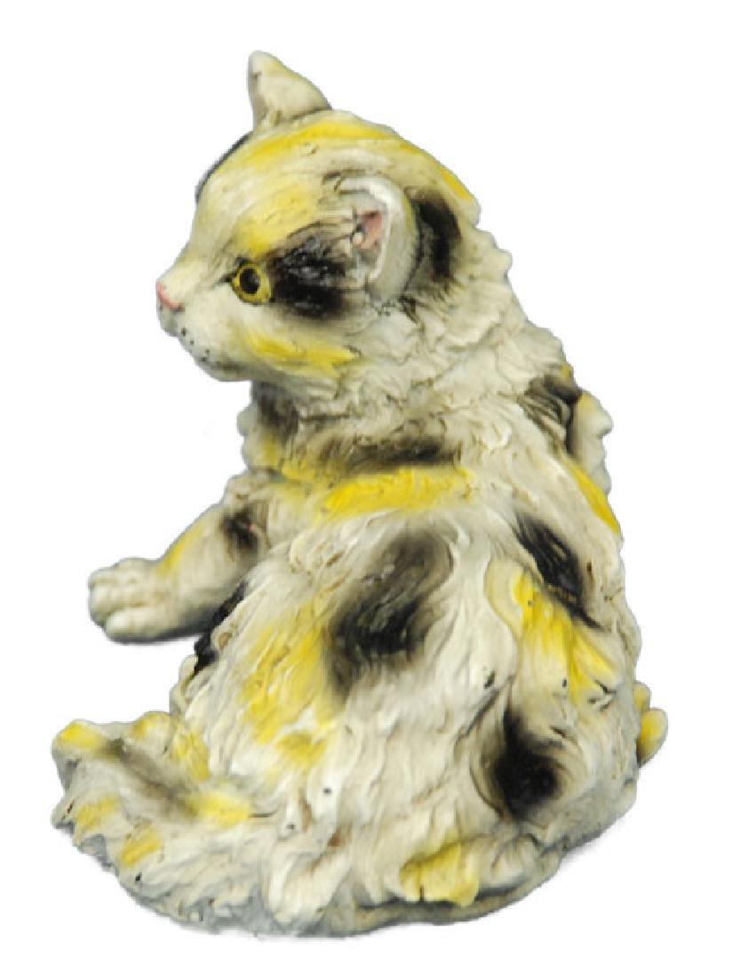 Cute Persian Cat Bronze Sculpture - 2