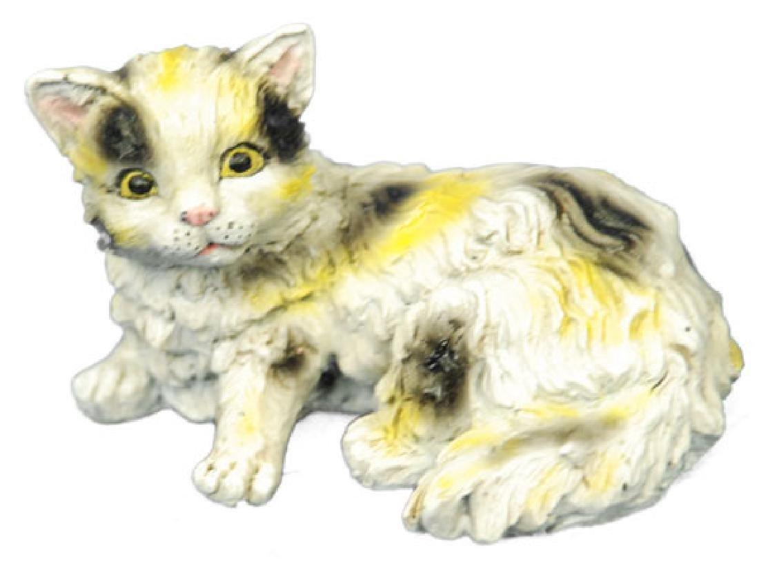 Cute Persian Cat Bronze Sculpture - 4