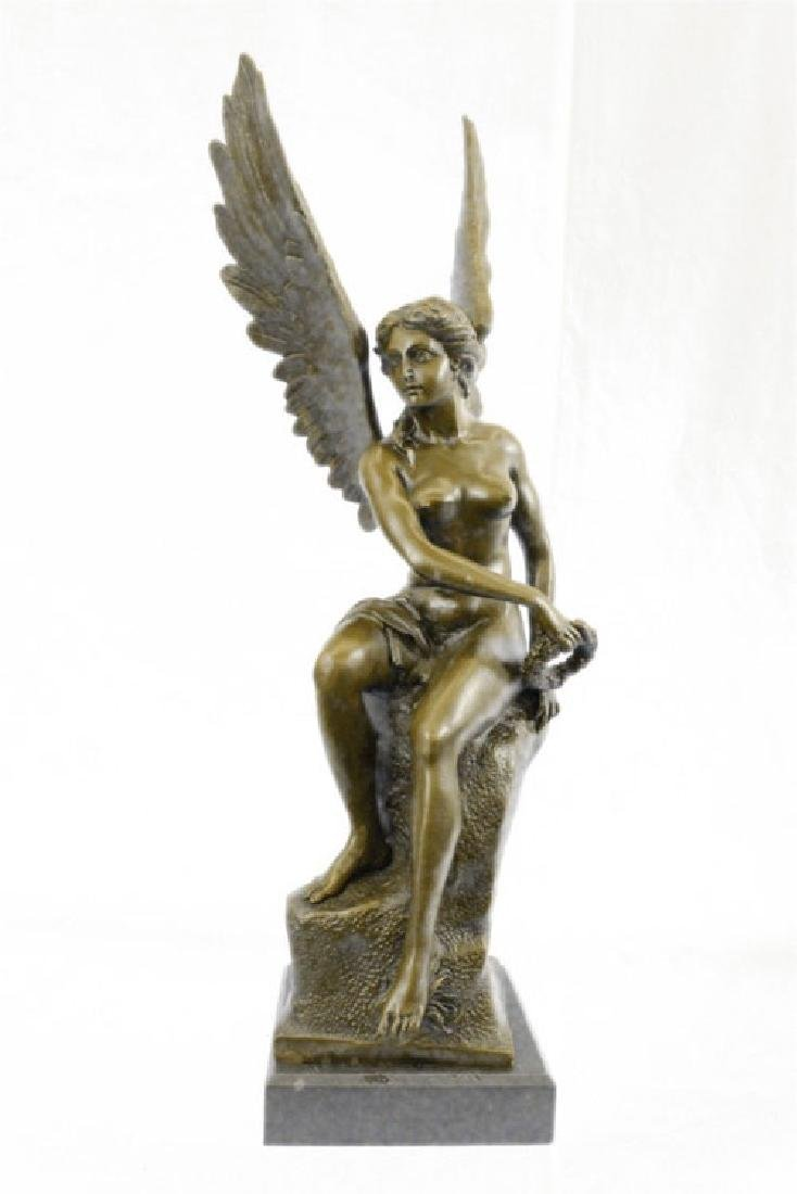Becquerel Nude Angel Bronze Sculpture