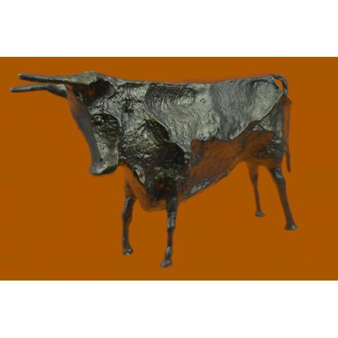 Modern Bull Bronze Sculpture Hot Cast Figurine