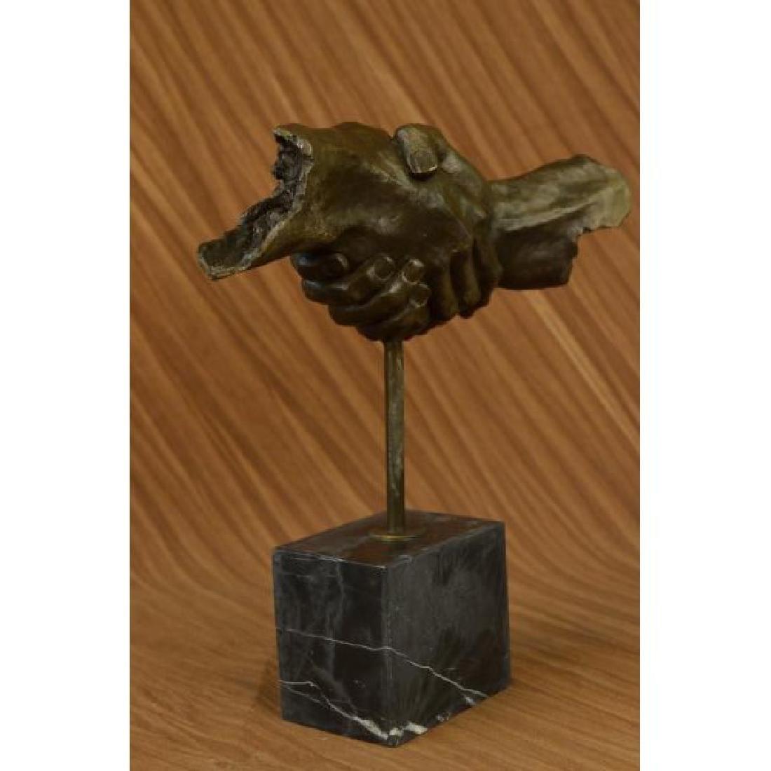 Modern Bronze Sculpture on Marble Base Figure - 5