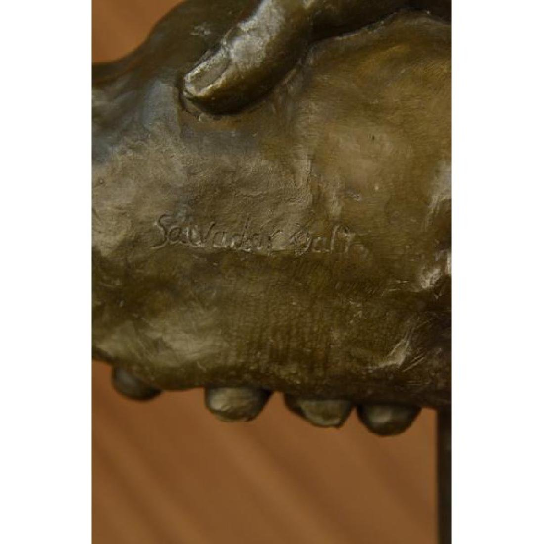 Modern Bronze Sculpture on Marble Base Figure - 6