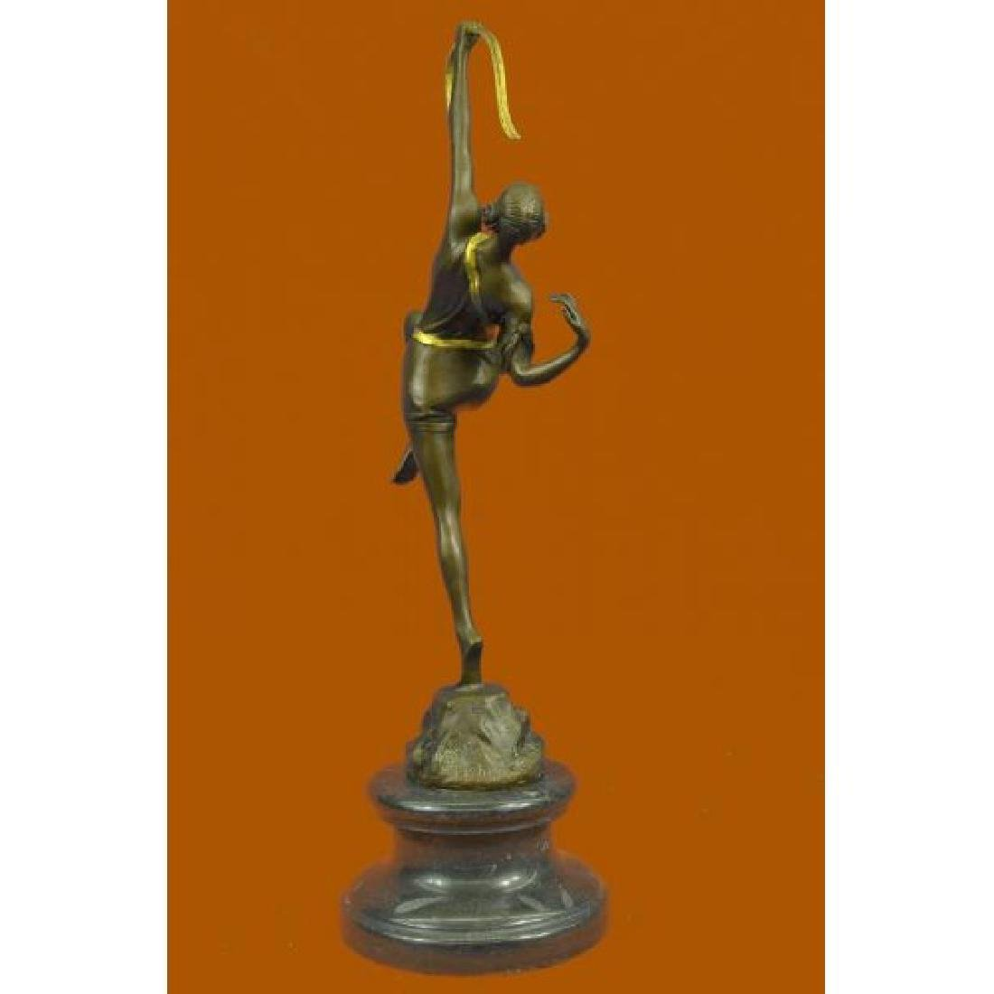 Dianne the Hunter Bronze Statue on Marble Base - 4