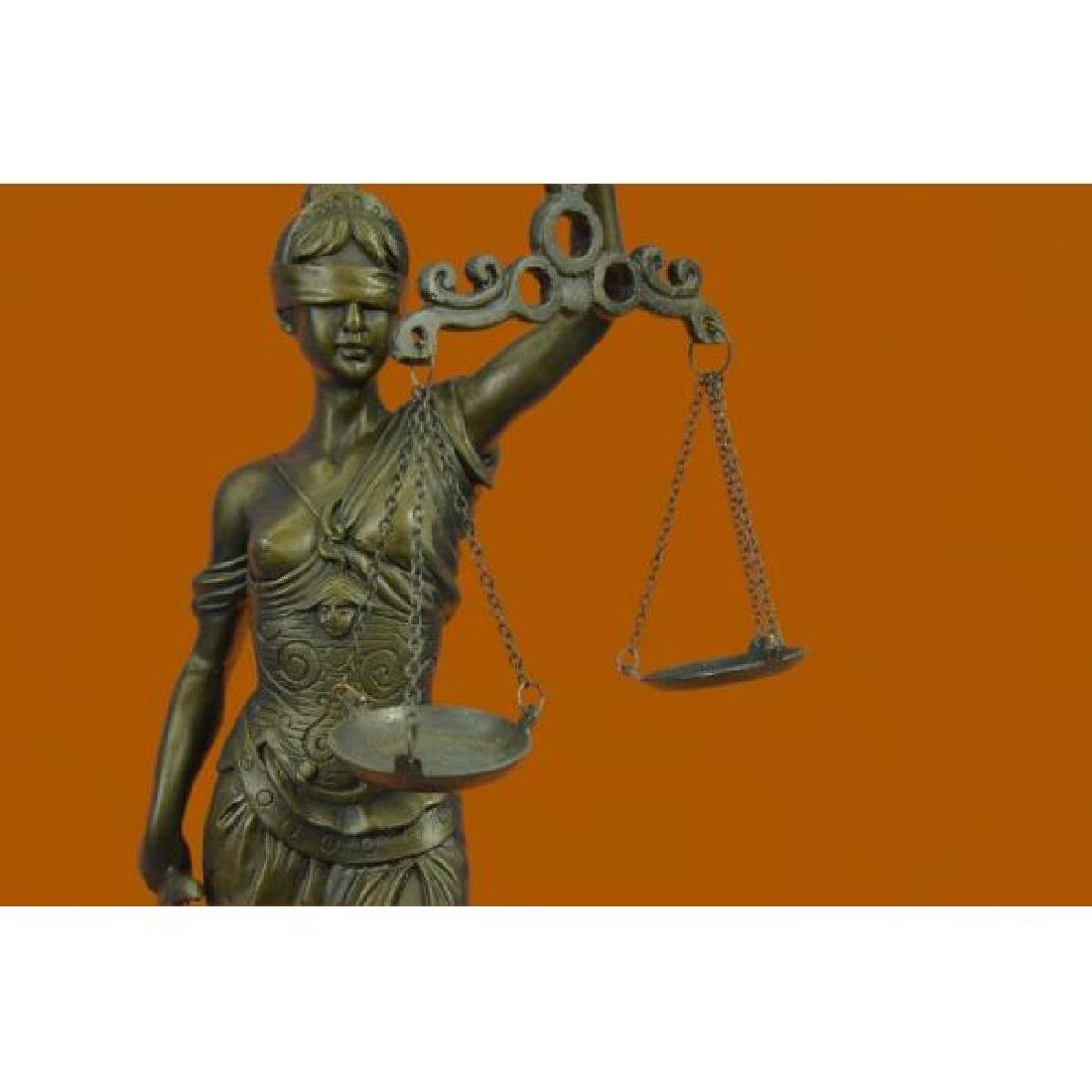Lady Blind Justice Bronze Statue - 5