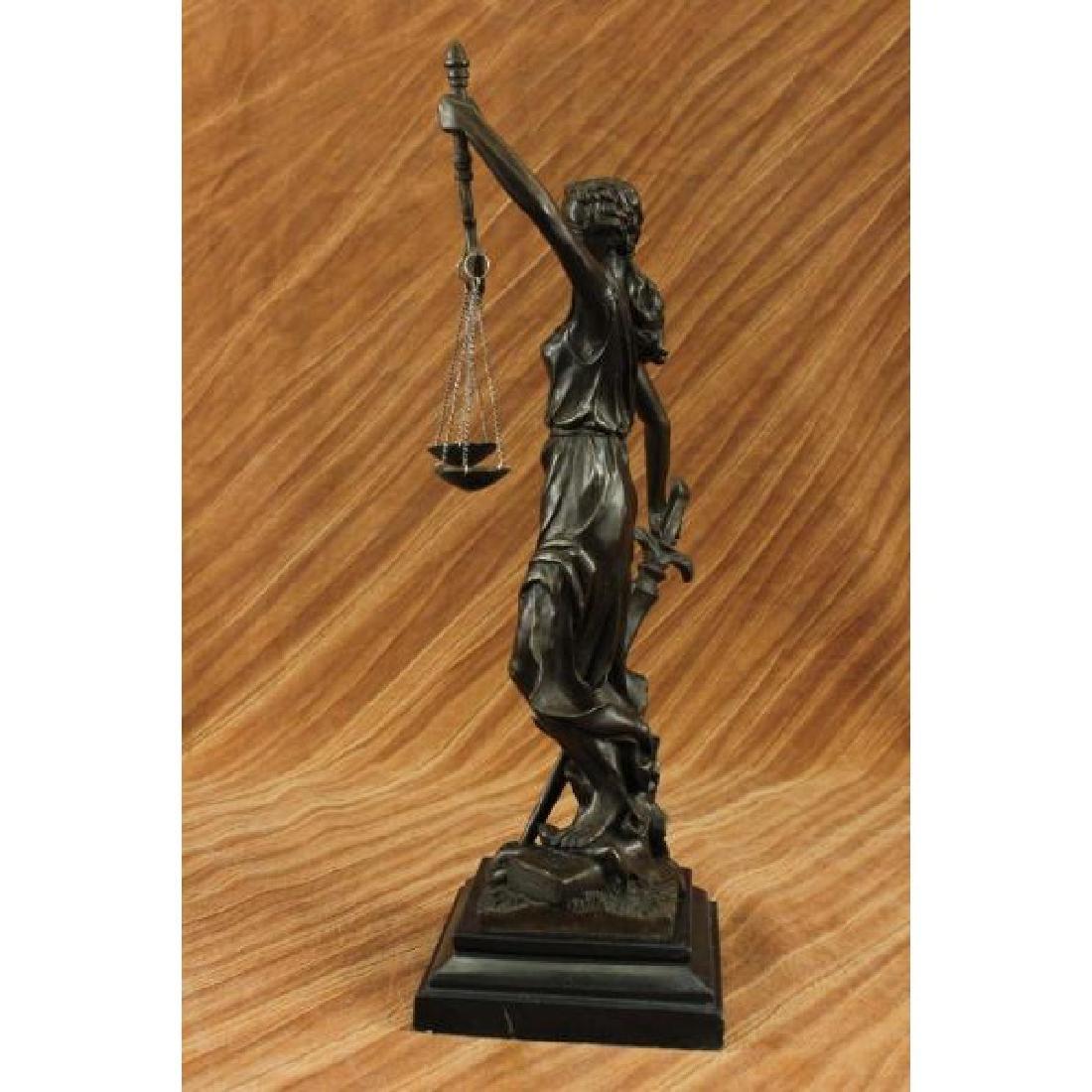 Blind Justice - Scale of Justice Bronze Sculpture - 2