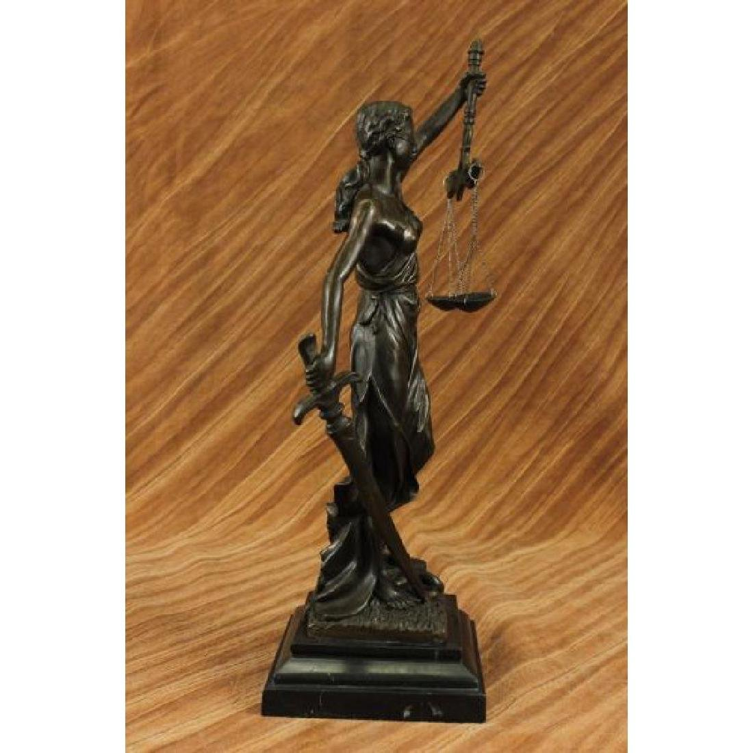 Blind Justice - Scale of Justice Bronze Sculpture - 4