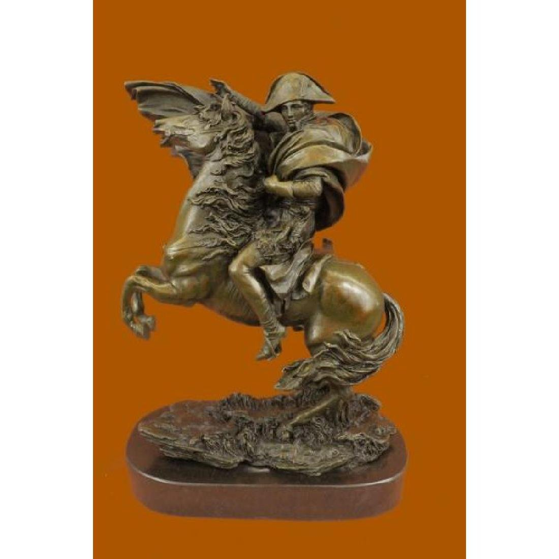 Bronze on Marble Base Sculpture of Napoleon Bonaparte