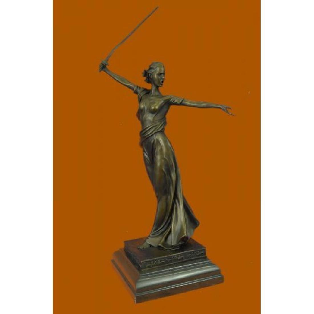 Greek Mythology Athena Female Warrior with Sword Bronze