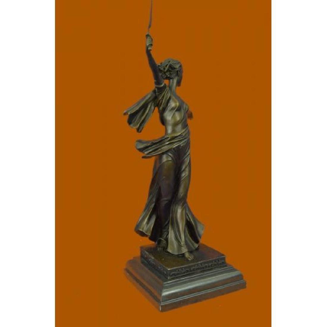 Greek Mythology Athena Female Warrior with Sword Bronze - 4