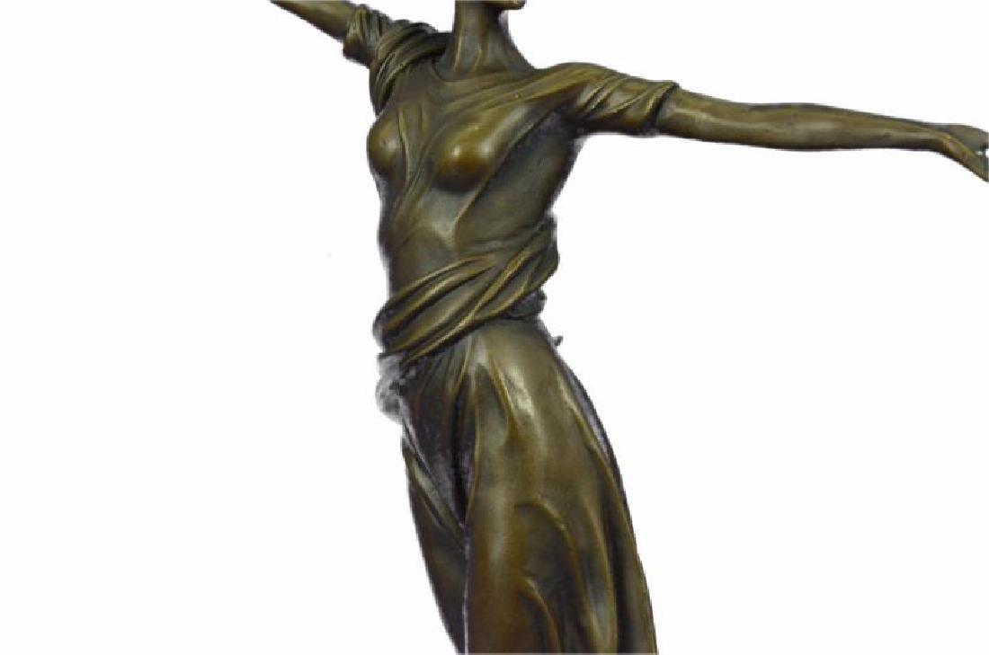 Greek Mythology Athena Female Warrior with Sword Bronze - 7