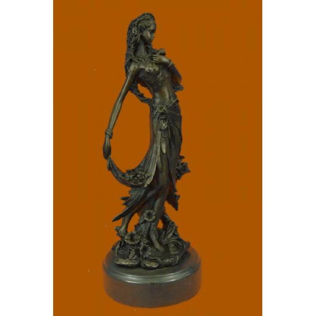 Sexy Nymph Goddess Bronze Sculpture - 4