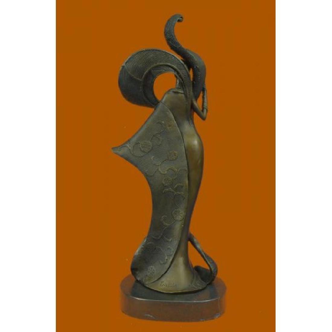 Bronze Sculpture on Marble Figurine - 3